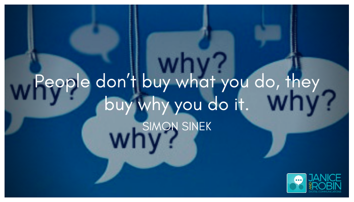 Do you talk about the WHY?